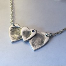 Triple Overlapping Heart Necklace