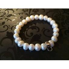 Freshwater Pearl charm carrier bracelet