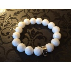 White Jade charm carrier bracelet