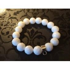 White Jade charm carrier bracelet