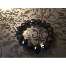 Black Onyx charm carrier bracelet