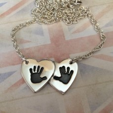 Double Overlapping Heart Necklace