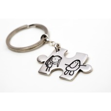 Jigsaw Piece Keyring or Pendant