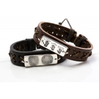 Chunky Leather ID Bracelet
